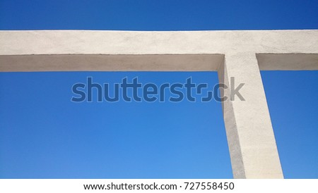 architectural support structure detail against clear sky #727558450