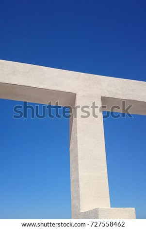 architectural support structure detail against clear sky #727558462