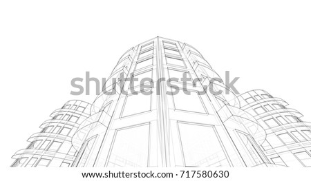 architecture abstract  3d...