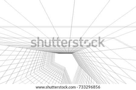 architecture abstract, 3d illustration #733296856
