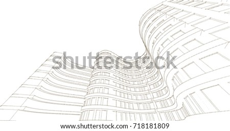 architecture abstract  sketch ...