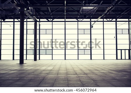architecture and construction concept - modern empty show room #456072964
