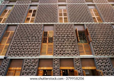 Apartment Architecture Brick Brown Free Photo Avopix Com