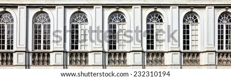 architecture and windows of...