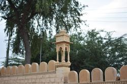 architecture around gadisar lake jaisalmer