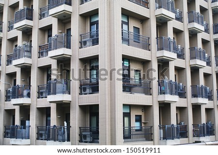 Architecture background of apartment