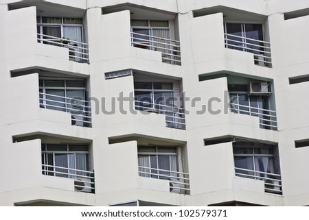 Architecture background of apartment in outside. - stock photo