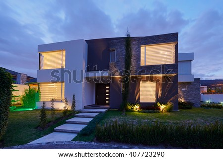 Architecture: Big modern House #407723290
