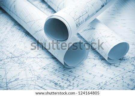 architecture blue plans