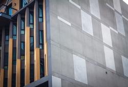 Architecture. Building Design Architecture. Modern office building. architecture detail. design and pattern. architecture with stone. building close up. detail of architecture. art with line minimal.