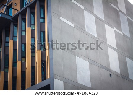 Architecture. Building Design Architecture. Modern office building. architecture detail. design and pattern. architecture with stone. building close up. detail of architecture. art with line minimal. #491864329