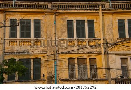 Architecture Colonial Phnom Penh, Cambodia Mar 2015