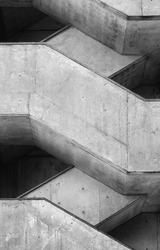 Architecture detail Cement concrete Stairs construction building