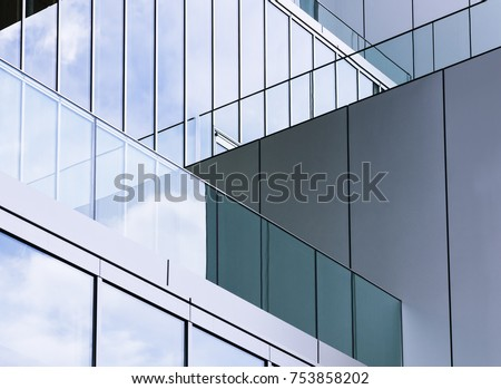 architecture detail glass wall...