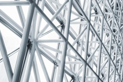 Architecture detail Modern Metal Structure Pattern Construction
