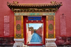 architecture detail of the imperial palace Forbidden City of Beijing China