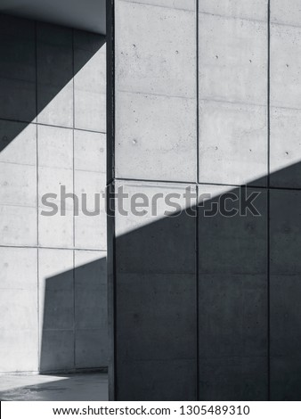 Architecture details Concrete wall Modern building Abstract background #1305489310