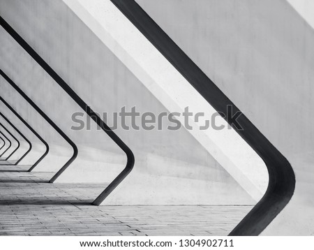 Architecture details Modern Building Concrete Bias columns space perspective Abstract background #1304902711