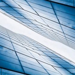 Architecture details Modern Building exterior Glass Facade pattern Reflection Symmetrical Minimal