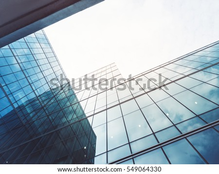 Architecture details Modern Building Glass facade Business background #549064330