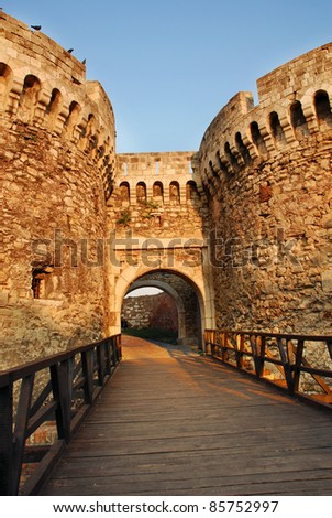 architecture details of Kalemegdan fortress in Belgrade, Zindan gate