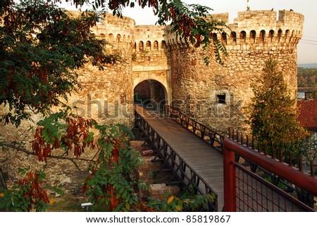 architecture details of Kalemegdan fortress in Belgrade, Zindan gate