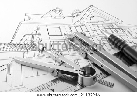 architecture home draw & drawing instruments