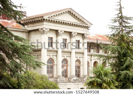 architecture in an old abandoned building, design of old walls, old house, old castle
