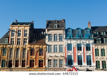 Architecture in lille france stock photo 64873153 for O architecture lille