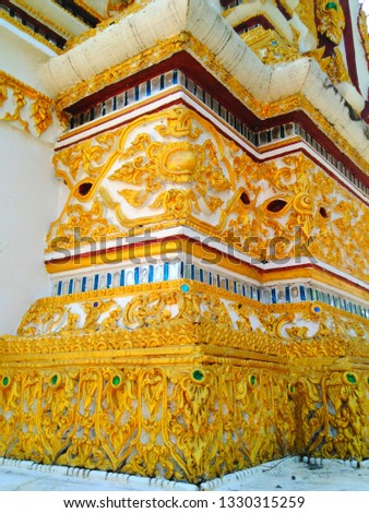 Architecture in Thai temples (Ban Miang Temple, Mae Tha District, Lampang Province) #1330315259