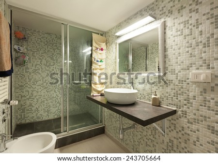 Architecture, interior home, bathroom with shower