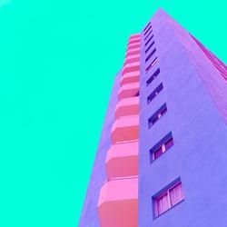 Architecture minimal colorful fashion art