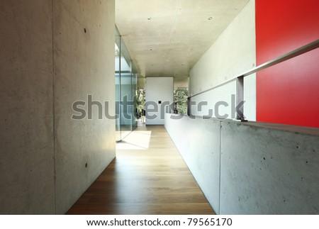 architecture, modern house , corridor interior