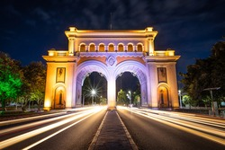 Architecture Night long exposure Guadalajara Vallarta Archs