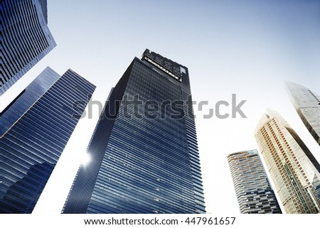 Architecture Oaffice Building Cityscape Personal Perspective Concept #447961657