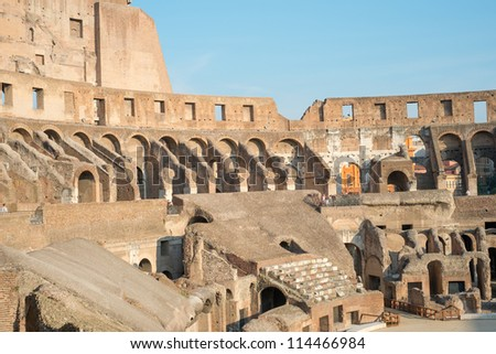 Architecture of ancient Rome. Colosseum. Italy.