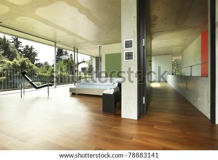 Architecture of Attilio Panzeri, Modern house interior , bedroom