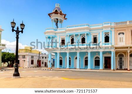 Architecture of Cienfuegos, Cuba. #721171537