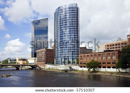 Architecture Of Grand Rapids Michigan Usa Stock Photo