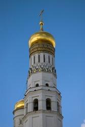 Architecture of Moscow Kremli. Popualr landmark.