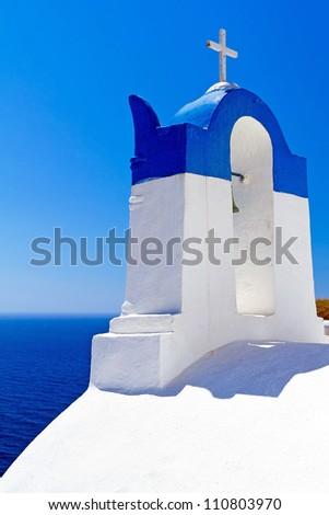 Architecture of Oia village at Santorini island, Greece
