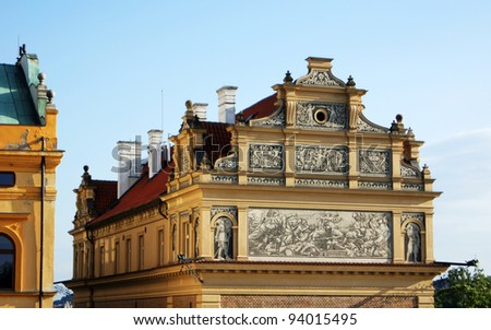 Architecture of Old part of czech capital - Prague city