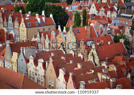 Architecture of old town in Gdansk, Poland