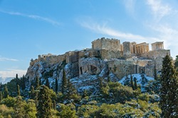 Architecture of the Acropolis, Greece, Athens, winter