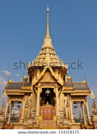 Architecture of the royal cremation. - stock photo