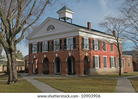 Architecture of Virginia - Caroline County Courthouse - Bowling Green - Built 1830