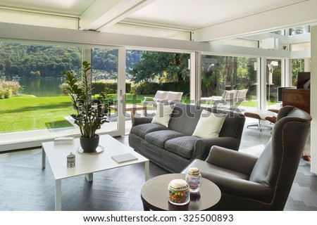 Architecture, open space of a modern house, living room #325500893