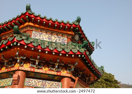 Architecture structure of a chinese temple