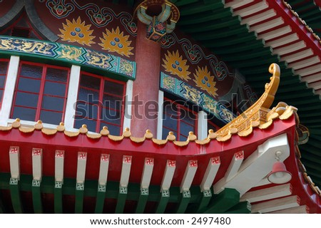 Architecture structure of a chinese temple - stock photo
