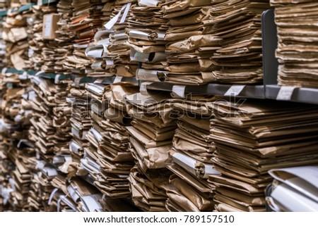 Archive folder, Pile of Files #789157510